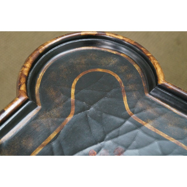 Maitland-Smith Chinoiserie Decorated Coffee Table - Image 10 of 10