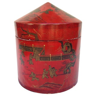 Vintage Chinese Lacquer Storage Box