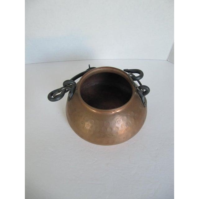 Hanging Turkish Copper Pot - Image 5 of 6