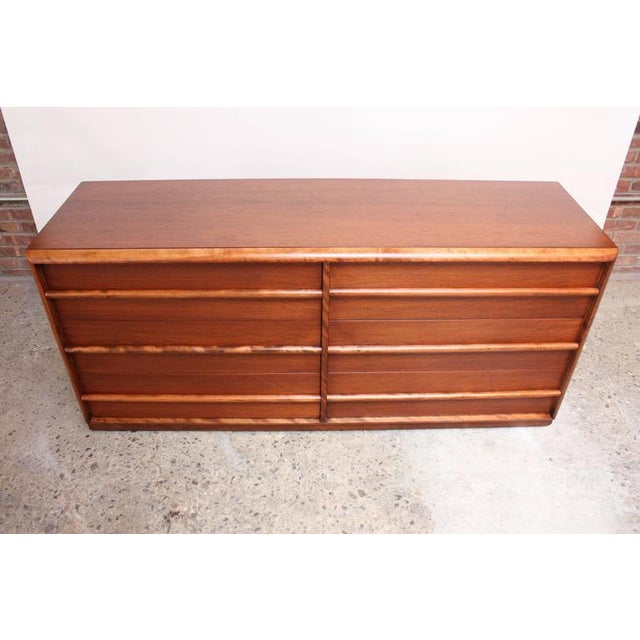 T.H. Robsjohn-Gibbings for Widdicomb Walnut Chest of Drawers - Image 4 of 9