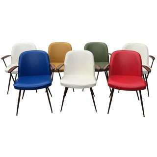 Vinyl Viko Dining Chairs by Baumritter - Set of 7