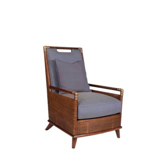 David Francis Woven Cane Lounge Chair