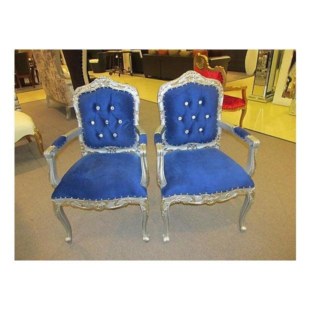 Mid-Century Velvet Armchairs - A Pair - Image 3 of 7