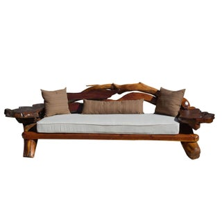 1960's George Buck Redwood Sofa