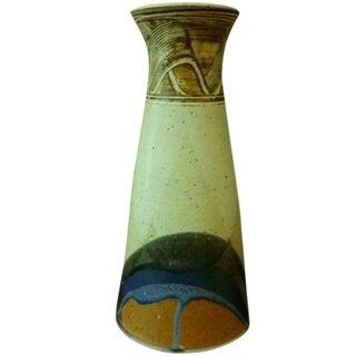 Vintage Stoneware Studio Art Pottery Vase