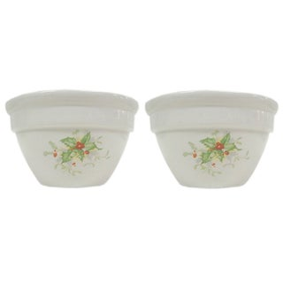 Holly Leaf Halls China Bowls - Pair