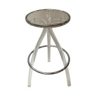 Lucite and Chrome Stool