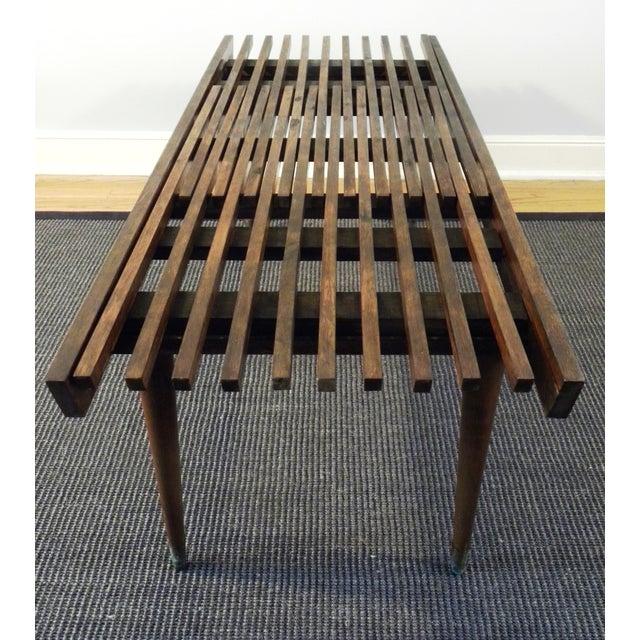 Image of Mid-Century Expandable Slat Bench