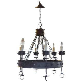 American Wrought Iron Chandelier