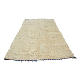 Moroccan Neutral Ivory Rug- 6′ × 9′