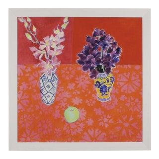 """Sweet Peas"", Giclee on Canvas, Framed - 41"" x 41"""