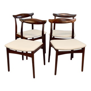 Vamo Sønderborg Leather & Rosewood Dining Chairs - Set of 4