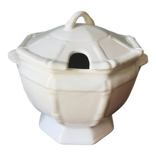 Vintage Bamboo Soup Tureen