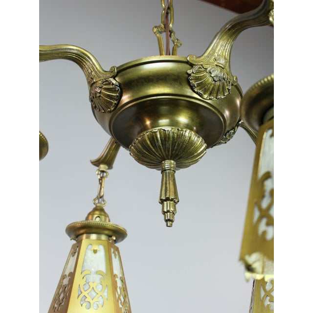 Antique Colonial Revival Pan Light Fixture (4-Light) - Image 11 of 11