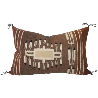 1930s Navajo Weaving Pillow with Feathers