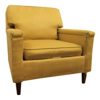 Danish Modern Yellow Pencil Leg Club Chair