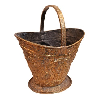 Antique Brass Coal Scuttle