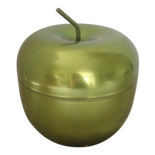 Vintage Green Apple Metal Ice Bucket