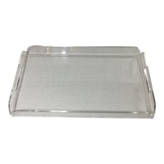Mid Century Modern Lucite Tray