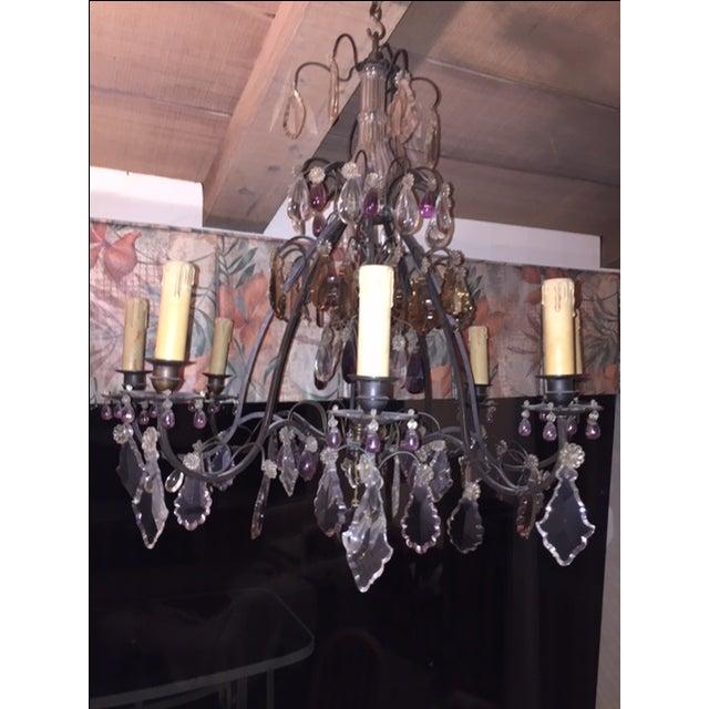 Vintage 8-Light Crystal Chandelier - Image 2 of 3