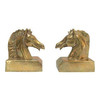 Brass Horse Bookends - A Pair