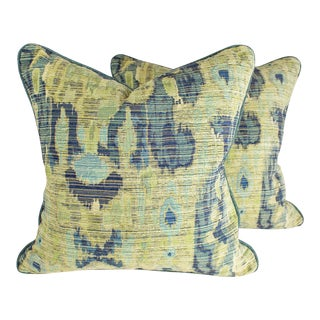 Ikat & Teal Pillows - Pair