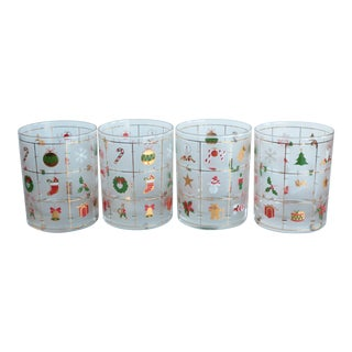 Culver Christmas Potpourri Glasses - Set of 4