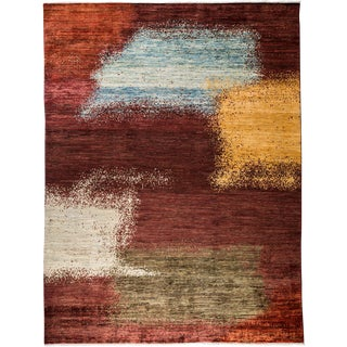 "New Abstract Hand-Knotted Rug - 7' 4""x9' 10"""
