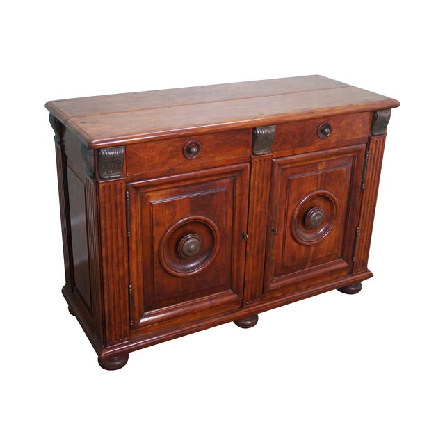Quality Solid Mahogany Rustic Continental Server - Image 1 of 10