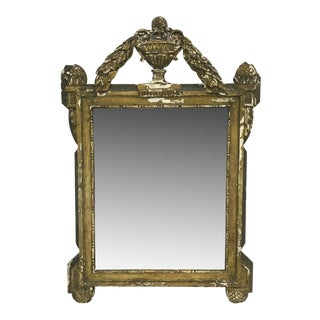 19th Century French Carved and Painted Mirror
