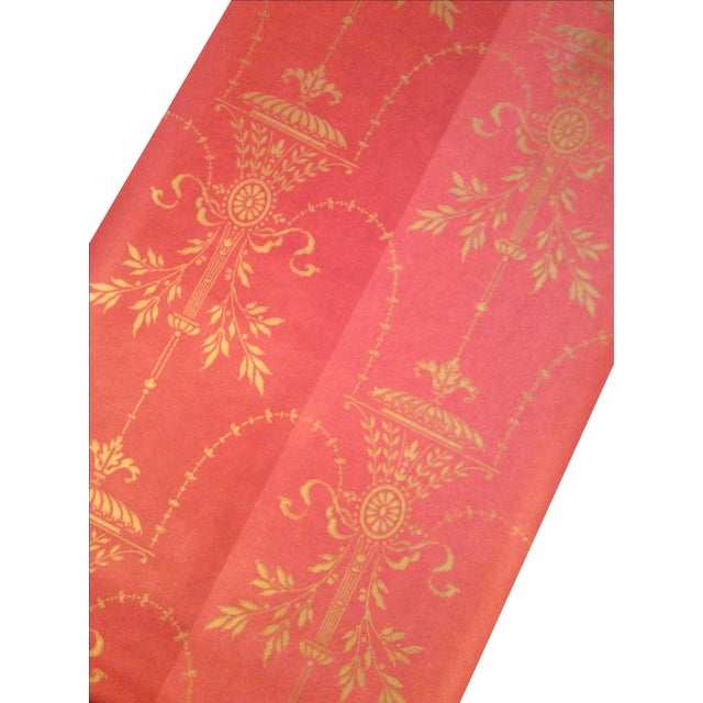 Image of Cole & Son Dorset 2-Toned Red Wallpaper - 10 Rolls