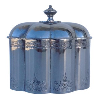 Moorish Style Silverplate Domed Keepsake Box