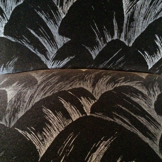 Black and Silver Velvet Barstool - Image 5 of 8