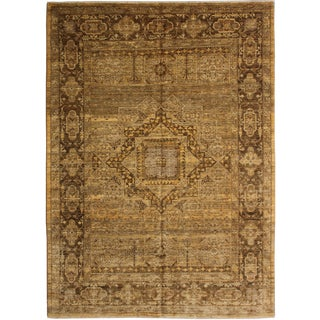 """Hand-Knotted Wool & Cotton Rug - 7'2"""" x 5'6"""""""