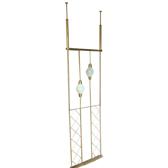 Image of 1960s Push Pole Room Divider with Lights