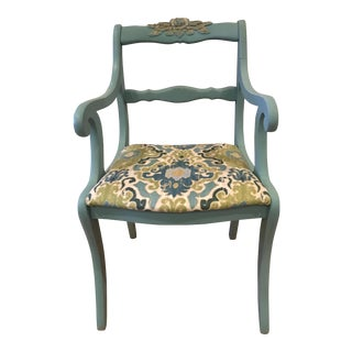 Vintage Carved Floral Accent Chair