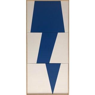 "Jason Trotter Original Acrylic Painting ""Blue Jagged Triptych Jet0452"""