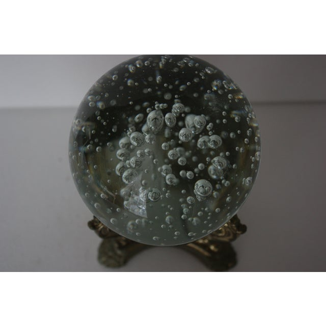Image of Floating Bubbles Glass Orb & Stand