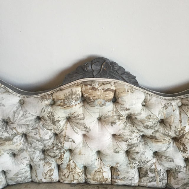 Victorian Reupholstered & Restored Walnut Settee - Image 4 of 8