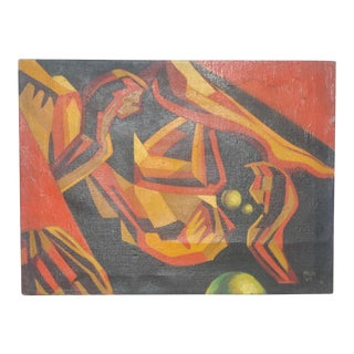 Maun American Abstract Oil Painting C.1969