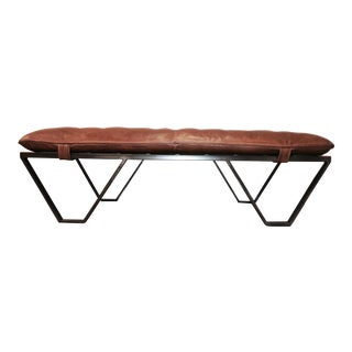 Leather & Metal Bench