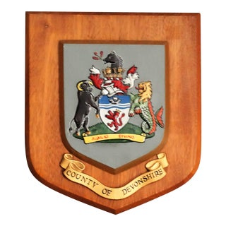County of Devonshire Crest Wall Plaque