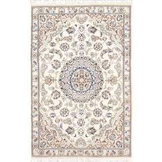 "Fine Persian Nain Silk & Wool Rug - 2'11"" X 4'6"""