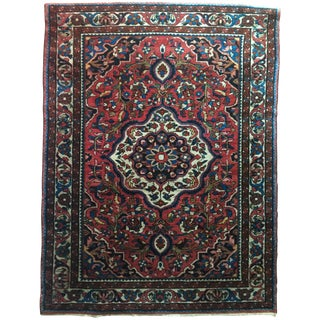 Antique Persian Baktiari Carpet - 3′5″ × 4′7″