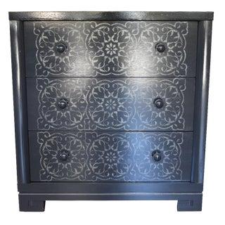 Gray Floral Facade Dresser