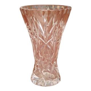 Cut Crystal Tapered Vase