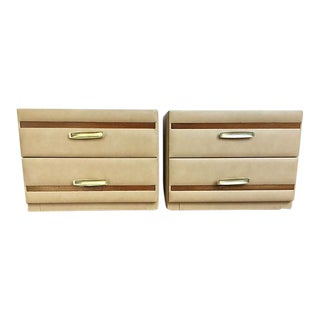 Pierre Cardin Style 70's Nightstands - A Pair
