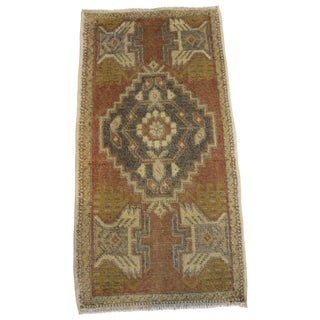 "Vintage Turkish Anatolian Small Rug - 1'6"" X 3'2"""