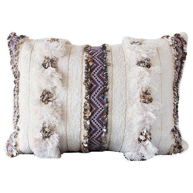Moroccan Handira Wedding Blanket Pillow VII - Image 2 of 8