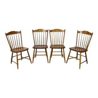 Hitchcock Maple Stenciled Windsor Dining Chairs - Set of 4
